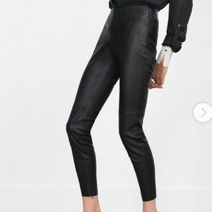 Zara faux leather skinny pants